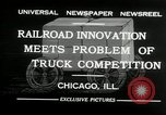 Image of automobile delivery by trains Chicago Illinois USA, 1932, second 6 stock footage video 65675030580