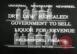 Image of alcohol prohibition repealed Helsinki Finland, 1932, second 2 stock footage video 65675030582