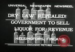 Image of alcohol prohibition repealed Helsinki Finland, 1932, second 9 stock footage video 65675030582