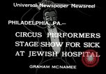 Image of circus performers Philadelphia Pennsylvania USA, 1934, second 10 stock footage video 65675030598