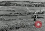 Image of farmer cutting old corn stalks Saint Clairsville Ohio USA, 1940, second 8 stock footage video 65675030603