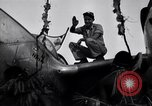Image of Native tribesmen with P-38 planes New Guinea, 1944, second 9 stock footage video 65675030622
