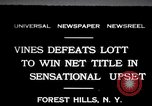 Image of Vines defeats Lott in Men's Singles Tennis Championship match Forest Hills New York USA, 1931, second 1 stock footage video 65675030764