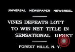 Image of Vines defeats Lott in Men's Singles Tennis Championship match Forest Hills New York USA, 1931, second 3 stock footage video 65675030764