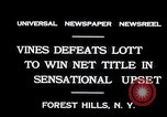 Image of Vines defeats Lott in Men's Singles Tennis Championship match Forest Hills New York USA, 1931, second 4 stock footage video 65675030764