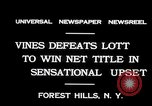Image of Vines defeats Lott in Men's Singles Tennis Championship match Forest Hills New York USA, 1931, second 6 stock footage video 65675030764