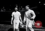 Image of Vines defeats Lott in Men's Singles Tennis Championship match Forest Hills New York USA, 1931, second 10 stock footage video 65675030764