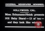 Image of Madame Schumann-Heink Hollywood Los Angeles California USA, 1931, second 2 stock footage video 65675030766