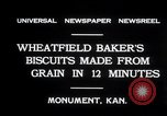 Image of wheat biscuits Monument Kansas USA, 1931, second 5 stock footage video 65675030769