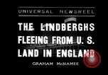 Image of Lindbergh couple Liverpool England, 1936, second 1 stock footage video 65675030776