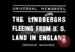 Image of Lindbergh couple Liverpool England, 1936, second 2 stock footage video 65675030776