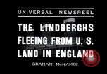Image of Lindbergh couple Liverpool England, 1936, second 3 stock footage video 65675030776