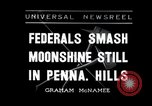 Image of Moonshine still Frazer Pennsylvania USA, 1936, second 1 stock footage video 65675030778