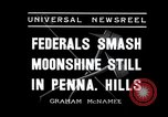 Image of Moonshine still Frazer Pennsylvania USA, 1936, second 3 stock footage video 65675030778