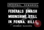 Image of Moonshine still Frazer Pennsylvania USA, 1936, second 4 stock footage video 65675030778