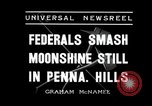 Image of Moonshine still Frazer Pennsylvania USA, 1936, second 5 stock footage video 65675030778