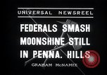 Image of Moonshine still Frazer Pennsylvania USA, 1936, second 8 stock footage video 65675030778