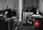 Image of Hans Albin Rauter trial The Hague Netherlands, 1948, second 4 stock footage video 65675030787
