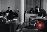 Image of Hans Albin Rauter trial The Hague Netherlands, 1948, second 5 stock footage video 65675030787