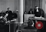 Image of Hans Albin Rauter trial The Hague Netherlands, 1948, second 6 stock footage video 65675030787