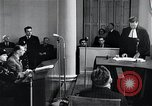 Image of Hans Albin Rauter trial The Hague Netherlands, 1948, second 7 stock footage video 65675030787