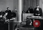 Image of Hans Albin Rauter trial The Hague Netherlands, 1948, second 8 stock footage video 65675030787