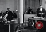 Image of Hans Albin Rauter trial The Hague Netherlands, 1948, second 9 stock footage video 65675030787