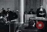Image of Hans Albin Rauter trial The Hague Netherlands, 1948, second 12 stock footage video 65675030787