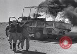 Image of Burning British vehicle North Africa, 1943, second 3 stock footage video 65675030883