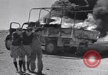 Image of Burning British vehicle North Africa, 1943, second 4 stock footage video 65675030883