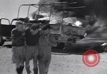 Image of Burning British vehicle North Africa, 1943, second 6 stock footage video 65675030883