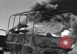 Image of Burning British vehicle North Africa, 1943, second 9 stock footage video 65675030883