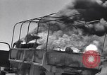 Image of Burning British vehicle North Africa, 1943, second 10 stock footage video 65675030883