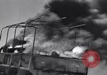 Image of Burning British vehicle North Africa, 1943, second 12 stock footage video 65675030883