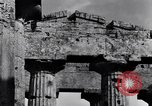 Image of Greek temple of Hera Paestum Italy, 1943, second 4 stock footage video 65675030900