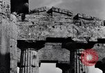 Image of Greek temple of Hera Paestum Italy, 1943, second 5 stock footage video 65675030900