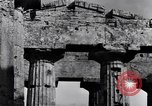 Image of Greek temple of Hera Paestum Italy, 1943, second 6 stock footage video 65675030900