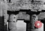 Image of Greek temple of Hera Paestum Italy, 1943, second 7 stock footage video 65675030900