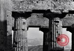 Image of Greek temple of Hera Paestum Italy, 1943, second 8 stock footage video 65675030900