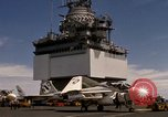 Image of A-4F on USS Enterprise Gulf of Tonkin Vietnam, 1968, second 11 stock footage video 65675031047