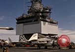 Image of A-4F on USS Enterprise Gulf of Tonkin Vietnam, 1968, second 12 stock footage video 65675031047