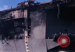 Image of USS Enterprise docked after fire Pearl Harbor Hawaii USA, 1969, second 5 stock footage video 65675031057