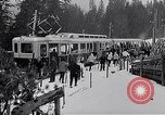 Image of Skiers load tram Europe, 1959, second 7 stock footage video 65675031123