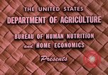 Image of food and nutrition Beltsville Maryland USA, 1948, second 3 stock footage video 65675031181