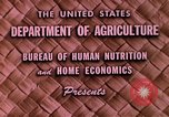 Image of food and nutrition Beltsville Maryland USA, 1948, second 5 stock footage video 65675031181