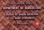Image of food and nutrition Beltsville Maryland USA, 1948, second 6 stock footage video 65675031181