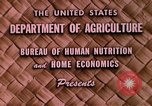 Image of food and nutrition Beltsville Maryland USA, 1948, second 9 stock footage video 65675031181