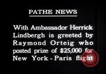 Image of Charles Lindbergh Paris France, 1927, second 2 stock footage video 65675031334