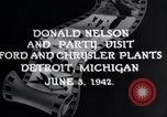 Image of Donald Nelson Detroit Michigan USA, 1942, second 3 stock footage video 65675031348