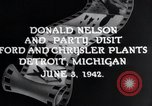 Image of Donald Nelson Detroit Michigan USA, 1942, second 4 stock footage video 65675031348